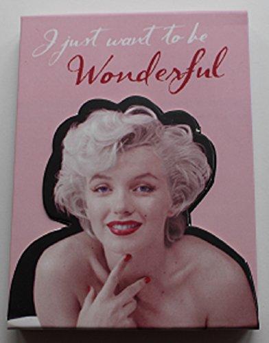 MARILYN MONROE Kleine Note Buch Notebook mit Magnetverschluss Wonderful