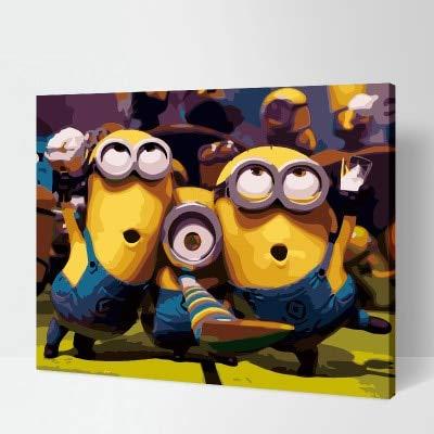 KYKDY Minions Carnival DIY Digitales Malen nach Zahlen, 45X50 cm