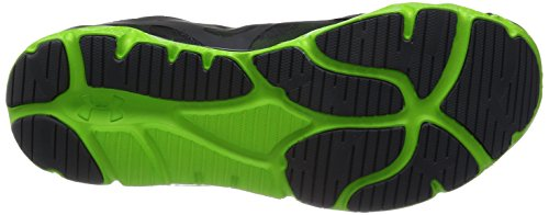 Under Armour Micro G Monza Night, Chaussures de running homme Gris (Lead/Gecko Green/Silver)