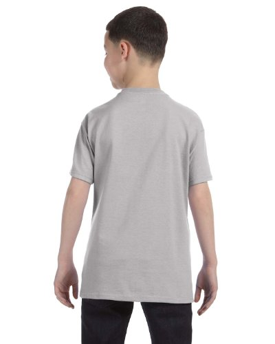 Hanes Authentic Tagless Kids Cotton T-Shirt Light Steel
