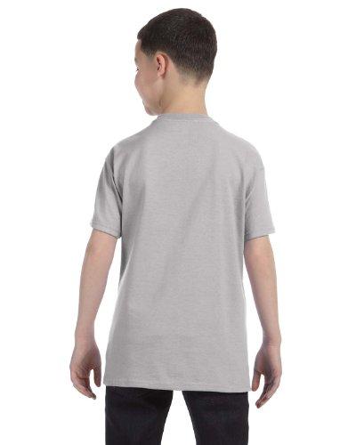 Jugend ComfortSoft Bottom Saum Lay Flat Crewneck T-Shirt, leichter Stahl, gro? (Stahl-crewneck)