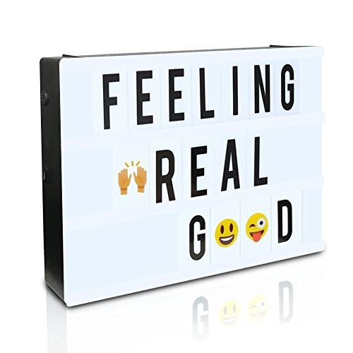 LEDLeuchtschild mit 189 Emoji Buchstaben, CrazyFire Lightbox mit Deko Buchstaben Gestaltbar LED Kino Leichte (Hause Geburtstag Ideen Zu Dekorationen)