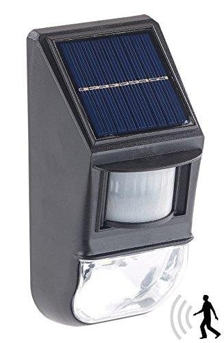 Lunartec LED-Solar-Wandleuchte, Dämmerungs- & PIR-Bewegungssensor, 50 lm, 0,5 W