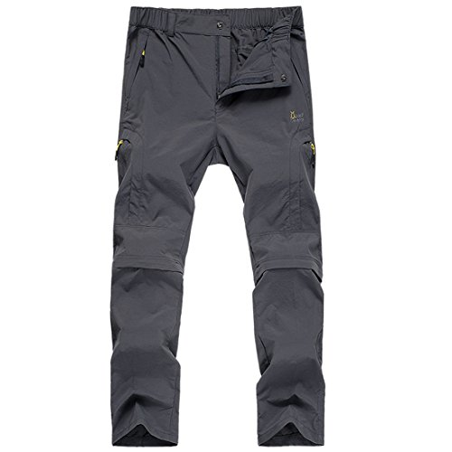 LHHMZ Men's Convertible Fast Dry Trousers Casual Breathable Soft shell Hiking Walking Cargo Pants Slim Fit