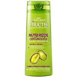 Garnier Fructis Nutri Rizos, Champú para Cabello Rizado u Ondulado - 360 ml