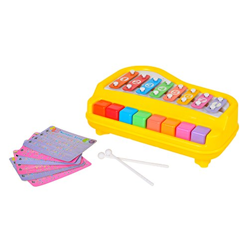 8 Keys Toddler Toy Happy Xylophone Piano attached 6 Pieces of Music Scores by BAOLI