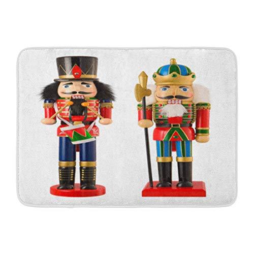 LIS HOME Bad Matte Closeup Weihnachten Nussknacker White Toy Soldier Puppe Figur Holzschnitt Badezimmer Dekor Teppich