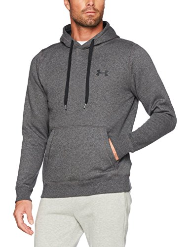 Under Armour 2017 ColdGear Rival Fitted Pull Over Hoody Pullover Mens Sports Hoodie Carbon Heather XXL - Coldgear Hoody