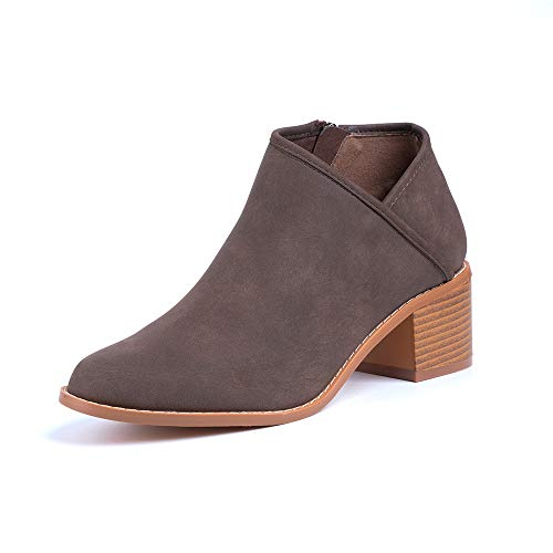 Botines Mujer Tacon Medio Invierno Planos Tacon Ancho Piel Botas Botita Moda 5cm Casual Planas Zapatos...
