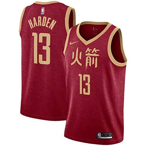 08353d41421e7 Lalagofe James Harden Houston Rockets #13 Red City Edition Chinese Basket  Jersey Maglia Canotta, Swingman Ricamata, Stile di Abbigliamento Sportivo  ...