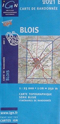 Blois, Carte de randonnée, n° 2021E - échelle : 1cm = 250 mètres
