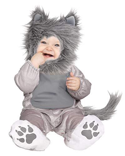Horror-Shop Frecher Wolf Kleinkinder & Baby Kostüm für Halloween & Fasching L (Wolf Kostüm Für Kleinkind)