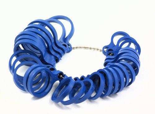 2 x Ringmaß aus Kunststoff amerikanische Größen, Messgerät für den Durchmesser von Ringen Fingerringen