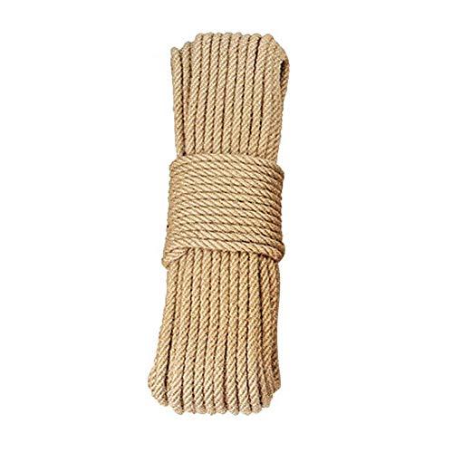 Natürliches Jute-Seil, Hanfseil, 1,27 cm x 2,9 m, Best Arts Crafts Geschenk, Schnur für Weihnachten, Industrie-Verpackungen, langlebige Schnur für Gartenanwendungen. -