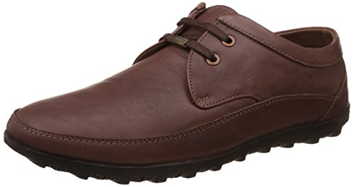 Egoss Men's Brown Leather Loafers And Moccasins - 6 Uk/india (40 Eu)