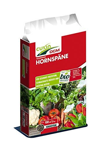 Cuxin Bio Hornspäne für ca. 200 m²⎜organischer Naturdünger für Obst, Gemüse, Balkon und Gartenpflanzen⎜✅+Bodenanalyse-Gutschein (10 Kg)
