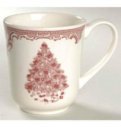Johnson Bros. Old Britain Castles Pink Xmas Pt Coffee Mugs by Johnson Brothers Johnson Bros Old Britain Castles