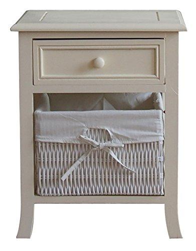 Canterbury-Armario de almacenamiento/mesilla de noche, color blanco