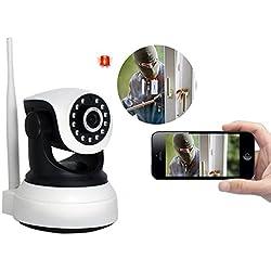 Sicherheitskamera Mini, IP Kamera Indoor Hd, Wifi Kamera PTZ Dome Kamera Instar / IP Cam Babyphone - Unterstützung Zwei-Wege-Stimme & Drahtloses Alarmsystem