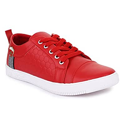 48d2d121eae Carrito Men s Red Sneaker Shoes  Buy Online at Low Prices in India ...
