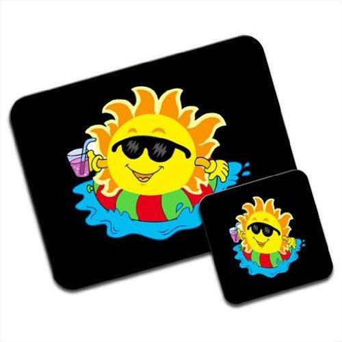 Sole Vacanza Con Drink e occhiali da sole Sottobicchiere