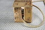 Zu Ostern, Hochzeit, Geburtstag Teelichthalter aus Altholz Holz von Obstkiste mit 4 Gläsern und Tau, Handgefertigt, Windlicht, Kerzenhalter, Laterne, Vintage, Upcycling - 6
