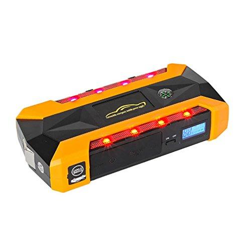 WJJ- 600A Peak 22000mAh Portable Car Jump Starter, Notfall Batterie Booster Pack, Smart Power Bank mit LED Taschenlampe, LCD Bildschirm und Kompass