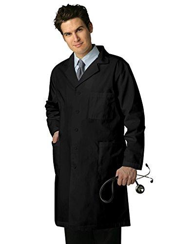 Schrubb-Laborkittel - Herren Laborkittel für Ärzte & Wissenschaftler 803_M Color: BLK   Talla: US 40 (Krankenhaus Patient Kostüm)