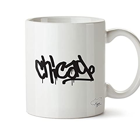 hippowarehouse Chicago 283,5 Tasse, keramik, weiß, One Size (10oz)