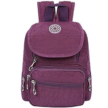 edf3524a1c EGOGO Filles Femmes Petit Sac à Dos Nylon Léger Imperméable Daypack E530-2  (Violet)