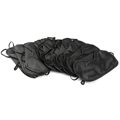 chalfen Schlafmasken Schlafbrillen in Schwarz (10 eye mask) ()