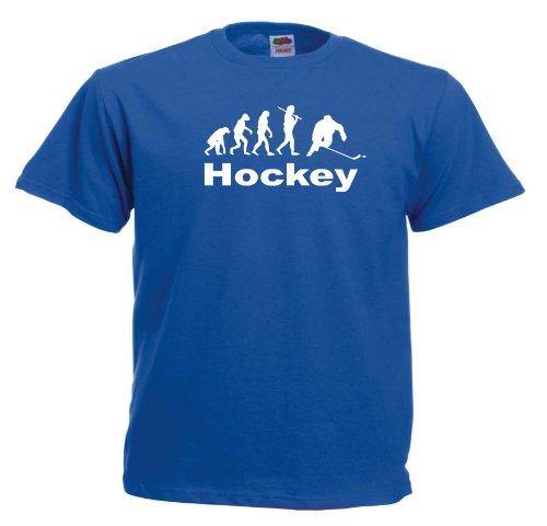Hockey Evolution T554 Unisex T-Shirt Textilfarbe: blau