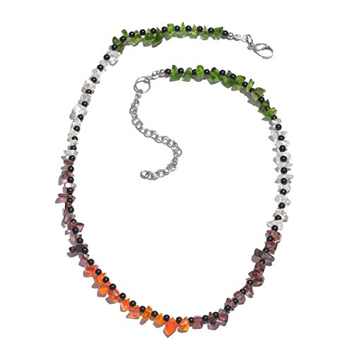 Vaibhav Multicolor Glossy Glass Beaded Single Layer Ethnic Necklace For Women  available at amazon for Rs.269