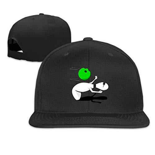 Ccsoixu Funny Matrix Bowling Snapback Unisex Adjustable Flat Bill Visor Baseball Hat (Anime Flat Hats Bill)