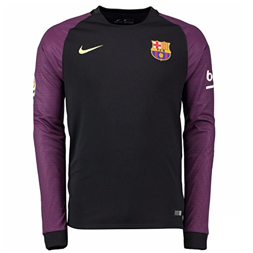 Jsy–Maglietta maniche uomo Volt lunghe Stadium Barcelona YTH Black LS per GK a FC Nero Nike Yq8wFx