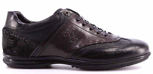 Scarpe Sneakers Uomo LA MARTINA L2090219 Ecuador Nero Franz Made In Italy Nuove