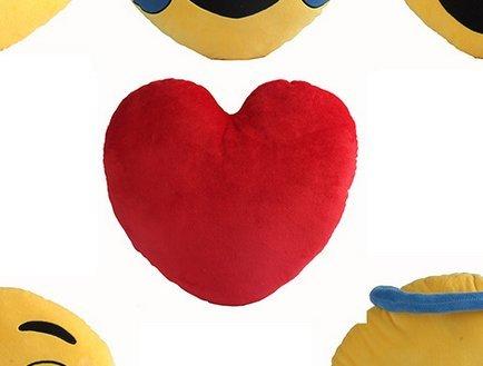 """minifamily® 32cm Emoji-Kissen Smiley Emoticon Kissen gefüllt """"weichen Plüsch Spielzeug Puppe Geschenk Home Decor (Herz) - 2"""