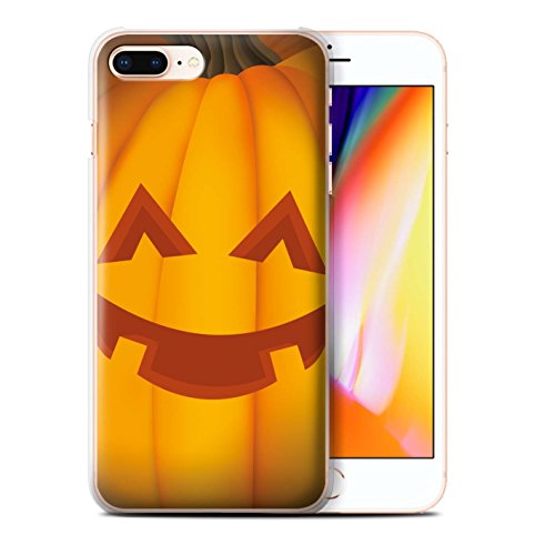 Stuff4 Hülle / Case für Apple iPhone 8 Plus / Pack 5pcs / Halloween Kürbis Kollektion Glücklich