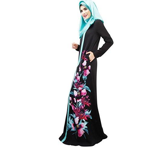 Longra Abaya Dubai Kleider Damen islamishen Kleid Islamische Kleidung Muslimische Kaftan Robe Gewand...