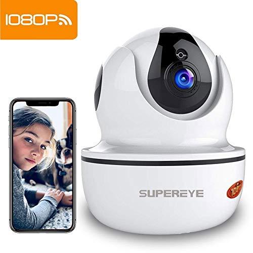 SUPEREYE 1080P Überwachungskamera IP-Kamera, FHD-WLAN-Überwachungskameras für den Innenbereich mit Nachtsicht, Bewegungserkennung und 2-Wege-Audio
