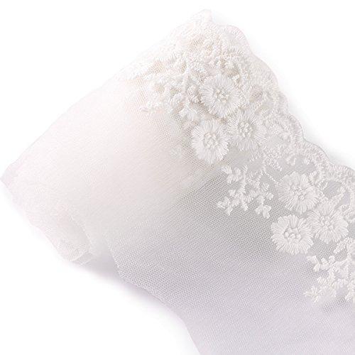 Anladia 4,5 m * 9 cm Ruban dentelle vintage blanc dentelle Coudre Vêtements Décoration de mariage