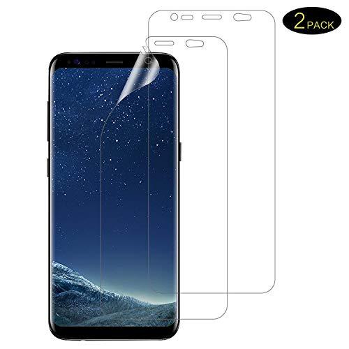 DOSMUNG Schutzfolie für Galaxy S8 Plus, [Blasenfreie][Anti-Kratzer][volle Abdeckung][Ultra-Klar] [2 Stück] Klar HD Displayschutzfolie Weich TPU Folie für Galaxy S8 Plus (Nicht Panzerglas)