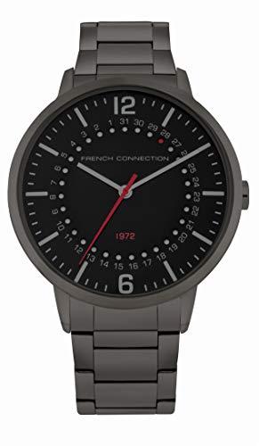French Connection Reloj Analógico para Hombre de Cuarzo con Correa en Acero Inoxidable FC1277BM