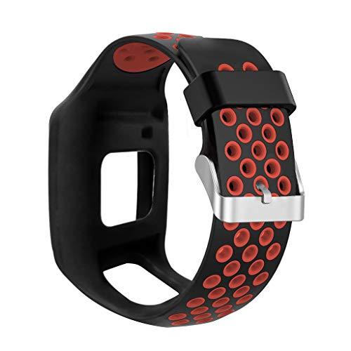 Uhrenarmband, Ersatz Silikonband Wrist Strap Fitness Armband für TomTom MultiSport GPS + HRM Wrist Strap Fitness Armband für TomTom Runner 1