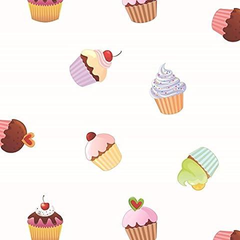 Toile Cupcake - '1,4m² toile cirée Nappe
