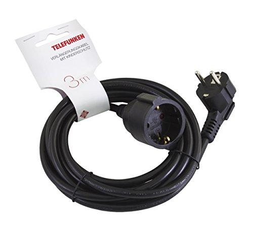 Preisvergleich Produktbild Telefunken EXC130-B Verlängerungskabel (mit Kinderschutz, 3M)