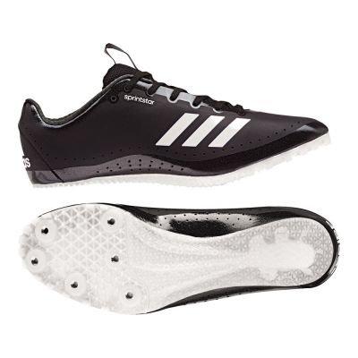 adidas Damen Sprintstar Leichtathletikschuhe, Schwarz (Negbas/Naranj/Ftwbla 000), 36 2/3 EU (Damen-lauf-spikes)