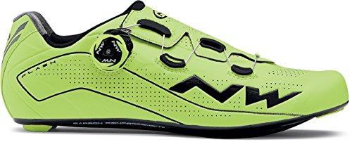 Northwave Scarpe Ciclismo Strada Uomo Flash Giallo Fluo/Nero