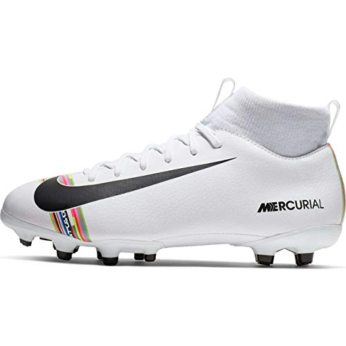 finest selection b5a0e 72112 Nike Unisex-Kinder Sperfly 6 Academy Gs CR7 MG Futsalschuhe, Mehrfarbig  (White/Black/Pure Platinum 000), 34 EU