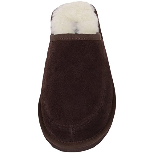 SNUGRUGS - Suede With Wool Lining And Rubber Sole, pistoni piani Unisex - Adulto Marrone (Braun)